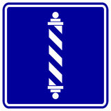 Barber shop pole vector sign. Vector sign of a barber shop pole Stock Photo