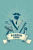 Barber Shop Poster Photo libre de droits