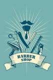 Barber Shop Poster Foto de Stock Royalty Free