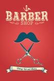 Barber Shop Poster Imagem de Stock