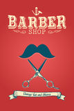 Barber Shop Poster. A vector barber shop poster design stock illustration