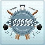 Barber Shop Realistic Concept Imágenes de archivo libres de regalías