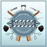 Barber Shop Realistic Concept Royalty Free Stock Images