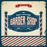Barber Shop retra - estilo del vintage stock de ilustración