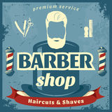Barber Shop Retro Style Poster Stockbild