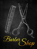 Barber shop Scissors comb Stock Photos