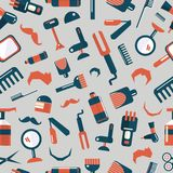 Barber shop seamless pattern Stock Photography