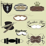 Barber Shop set Stock Image