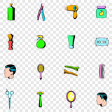 Barber shop set icons Stock Images