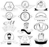 Barber Shop Set For Logos, Aufkleber, Ausweise Lizenzfreie Stockfotos
