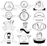 Barber Shop Set For Logos, labels, insignes Photos libres de droits