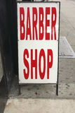 Barber Shop Sign Stock Photo