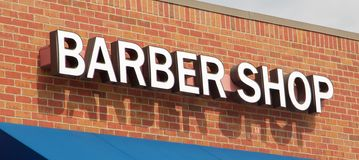 Barber Shop Sign Royalty Free Stock Photos