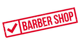 Barber shop stamp Royalty Free Stock Photos