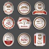 Barber Shop Stickers Lizenzfreie Stockfotos