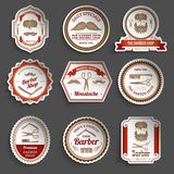 Barber Shop Stickers Royalty Free Stock Photos