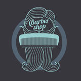 Barber shop templates Stock Photo