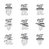 Barber shop templates Stock Images