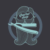 Barber shop templates Royalty Free Stock Image