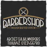 Barber Shop Typeface Poster Images libres de droits