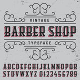 Barber Shop Typeface Poster Image stock