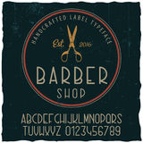 Barber Shop Typeface Poster Photo libre de droits