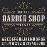 Barber Shop Typeface Poster d'annata Fotografia Stock