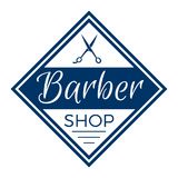 Barber Shop Typographic Hipster Badge Photographie stock libre de droits
