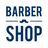 Barber Shop Typographic Hipster Badge /Label avec la moustache illustration stock
