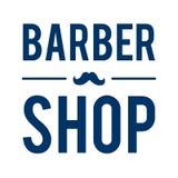 Barber Shop Typographic Hipster Badge /Label con i baffi illustrazione di stock