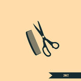 Barber Shop Vector Icon Image libre de droits
