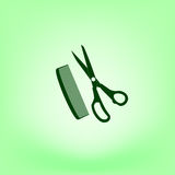 Barber Shop Vector Icon Images stock