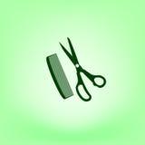 Barber Shop Vector Icon illustration stock