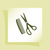 Barber Shop Vector Icon Royalty Free Stock Photography