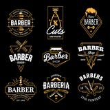 Barber Shop Vector Retro Emblems illustration libre de droits