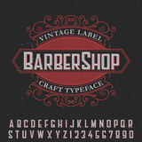 Barber Shop Vintage Label Poster Stock Photos