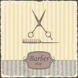 Barber shop vintage retro typography. Vector Stock Photos