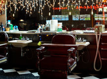 The Old time Barber Shop Stock Image