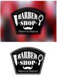 Barber Shop-Zeichen Lizenzfreies Stockbild