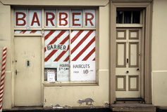 Barber Shop2. Derelict, abandoned Barber Shop, now closed for business(de-saturated version Stock Images