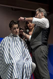 THE BARBER SHOW, COSMOBELLEZA 2014 Stock Image