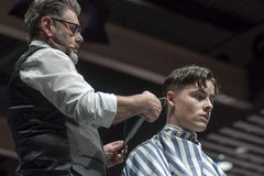 THE BARBER SHOW, COSMOBELLEZA 2014 Royalty Free Stock Photo