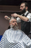 THE BARBER SHOW, COSMOBELLEZA 2014 Stock Images