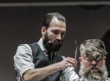THE BARBER SHOW COSMOBELLEZA 2014 Stock Images