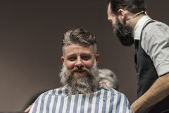 THE BARBER SHOW COSMOBELLEZA 2014 Stock Photography