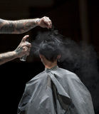 THE BARBER SHOW, COSMOBELLEZA 2014 Royalty Free Stock Images