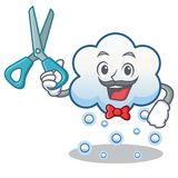 Barber snow cloud character cartoon Royalty Free Stock Photo