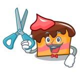 Barber sponge cake character cartoon. Vector illustration Stock Images