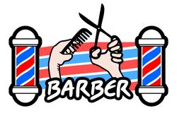 Barber sticker Stock Image