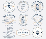 Barber style colored Royalty Free Stock Image